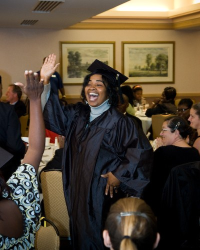 Prayer Bynum-Williams graduates from the Jacksonville Hospitality Institute