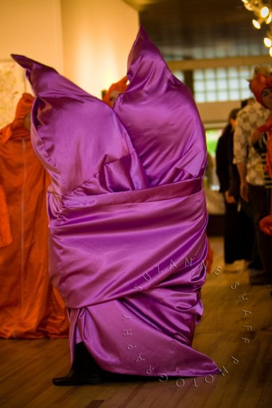 Christine Comeau fabric sculpture at Trinidad reception. Photo: Suzanne Shaff