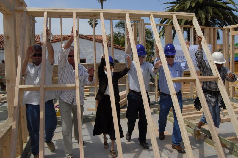 Wall Raising for Laura's House