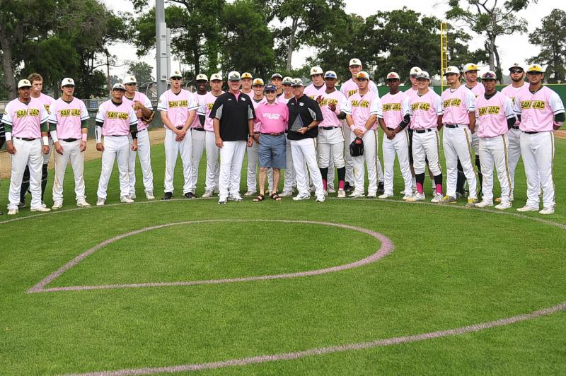 Our strong supporters - the San Jacinto College baseball team