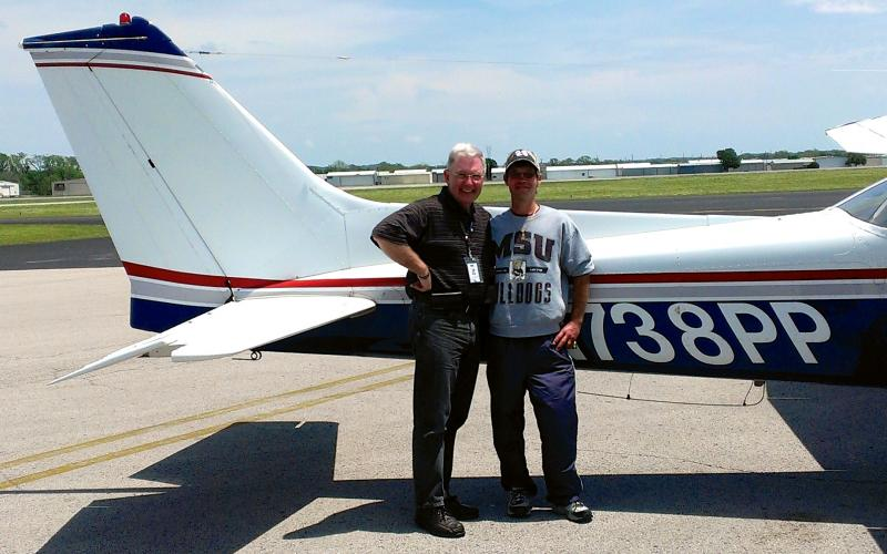 Pilot Jack Blackshear flying Karl Creekmore