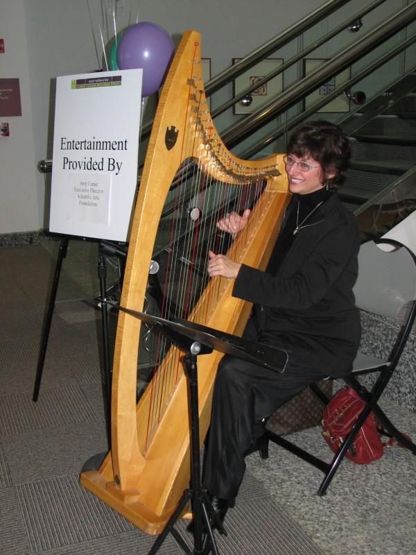 Sharing music at a Cancer Wellness Fair