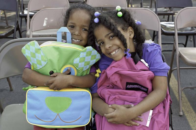 Each year Baldwin distributes over 600 Backpacks stuffed with school supplies