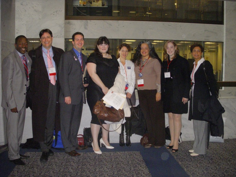 A group of NJ arts advocates in DC (2008) for National Arts Advocacy Day