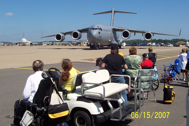 Keystone paralyzed veterans watch the Wings Over Pittsburgh Air Show in 2007 from