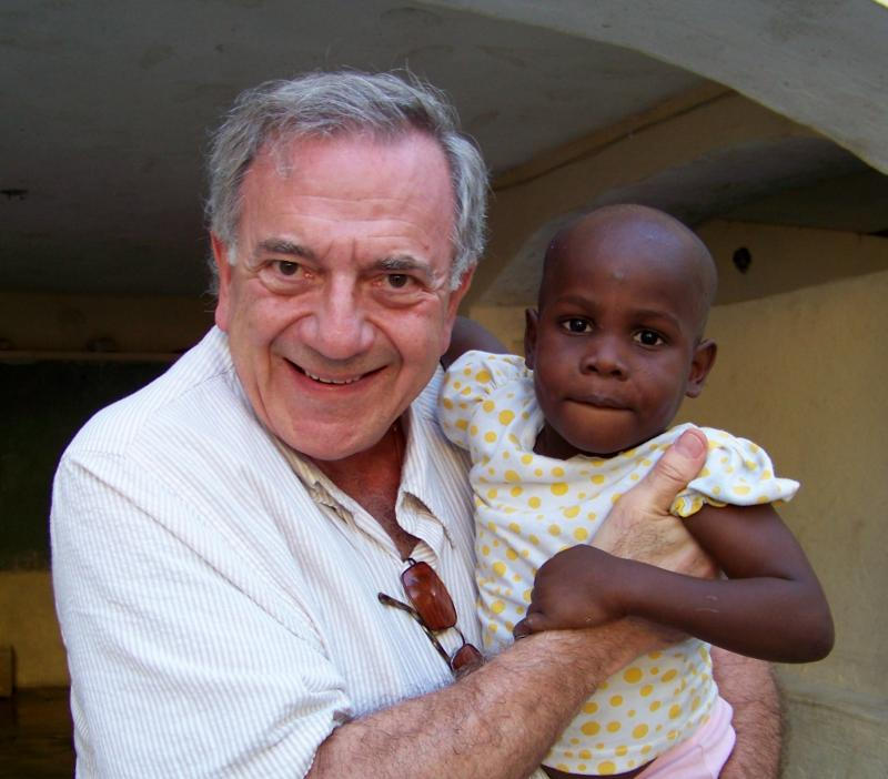 Our co-founder, Harry, on a recent trip to Haiti