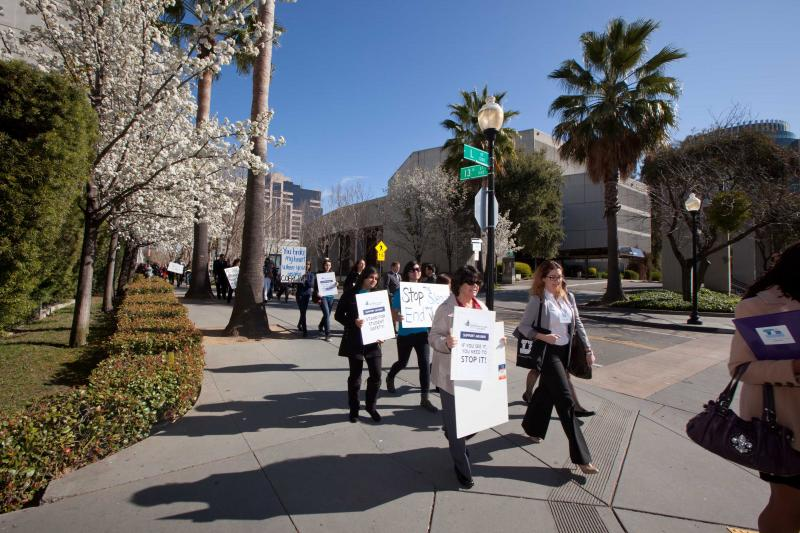 Members marching during Legislative Advocacy Day 2012