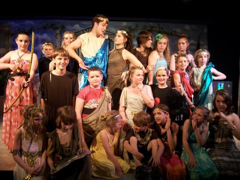 The Cast of Zeussical - May 2012