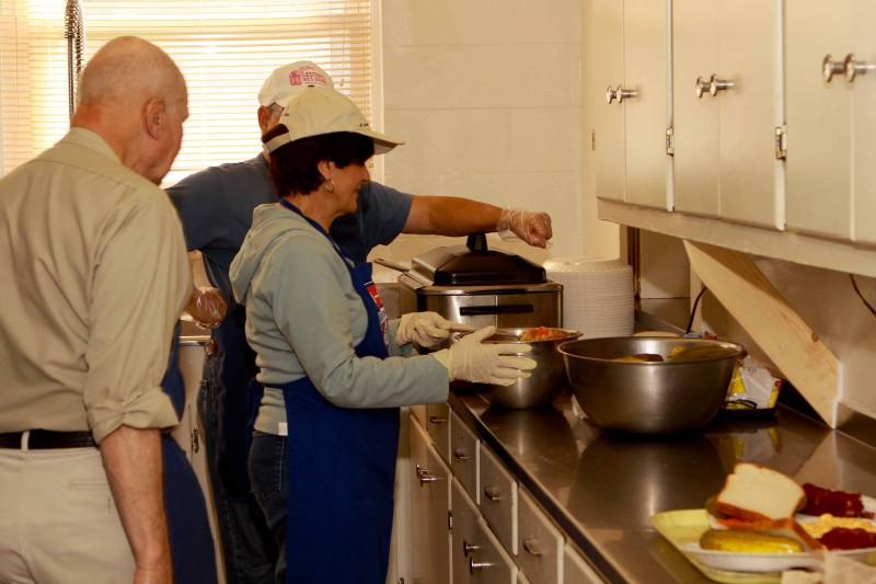 Volunteers prepare over 60,000 meals a year