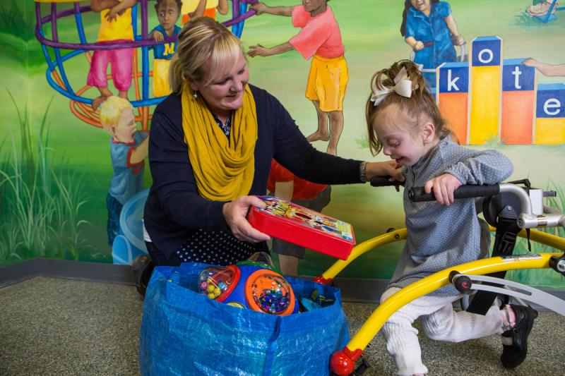 Play. Lekotek, a division of Anixter Center, uses PLAY and TOYS to foster the development of children with special needs.