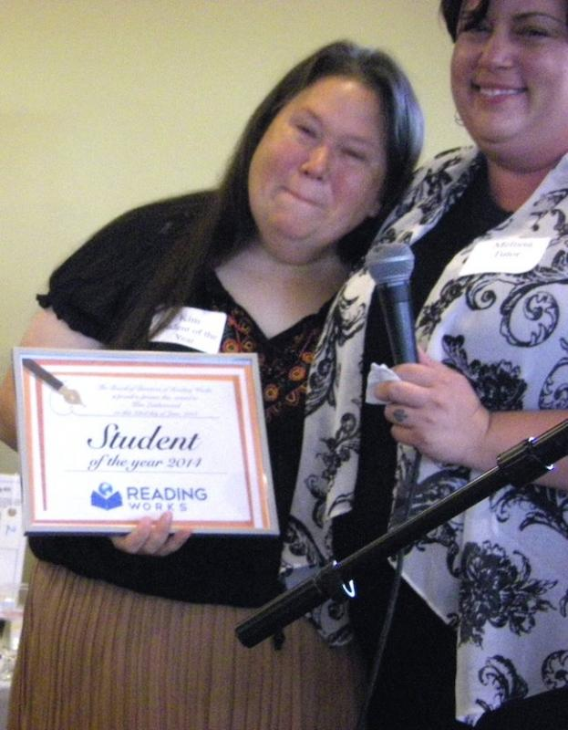 2014 Student of the Year with her tutor.