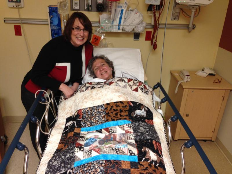 A quilt keeps you warm after surgery
