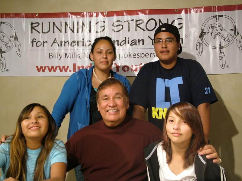 Our spokesperson, Billy Mills (Oglala Lakota, Olympic Gold Medalist) champions for our cause.