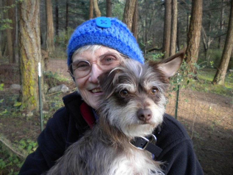 Barbara with her Miracle Mutt, Bento