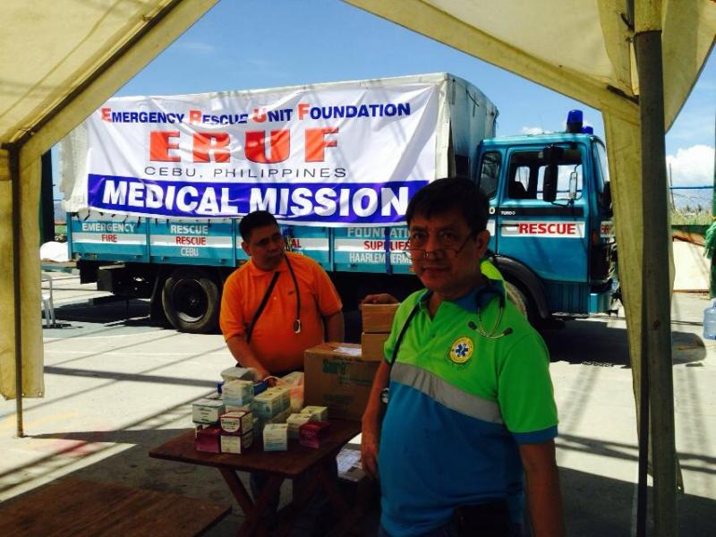 Typhoon Haiyan medical mission providing medical services to typhoon victims in Leyte, Phillippines on Nov. 15, 2013.