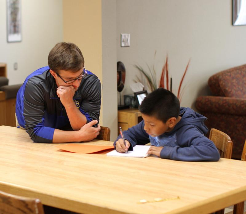 St. Joseph's students live in homes on campus, where trained houseparents see to every need.