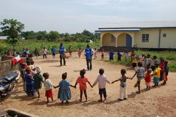 AEI students in dance class: Daru, Sierra Leone