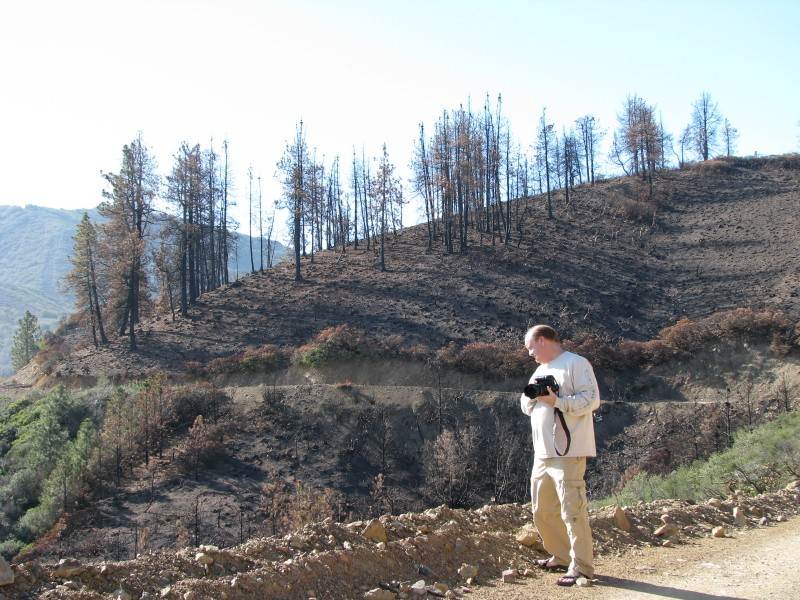 Botanist Bob Allen during our Santiago Fire Post Fire Recovery Weed Survey and Habitat Assesment