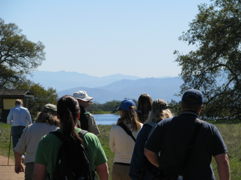 Land Steward Peer Network, a project of Back to Natives Restoration, visiting the Santa Rosa Plateau