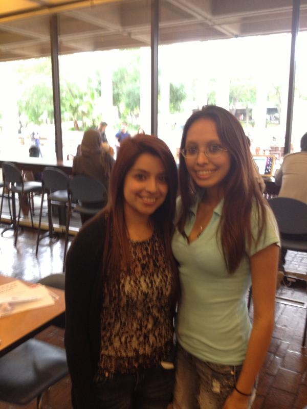 Two of our scholarship recipients who are attending UTSA