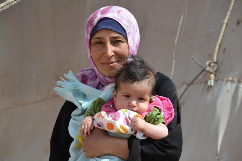 Syrian Refugee in IDP Camp in Jordan