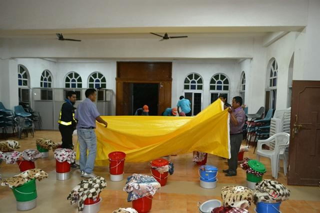 BCM-BWAid plastic sheeting for Nepal shelter