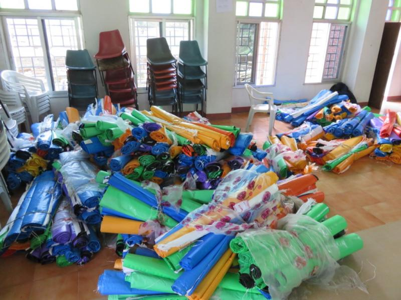 MDCS-BWAid Tents for distribution, Nepal earthquake relief