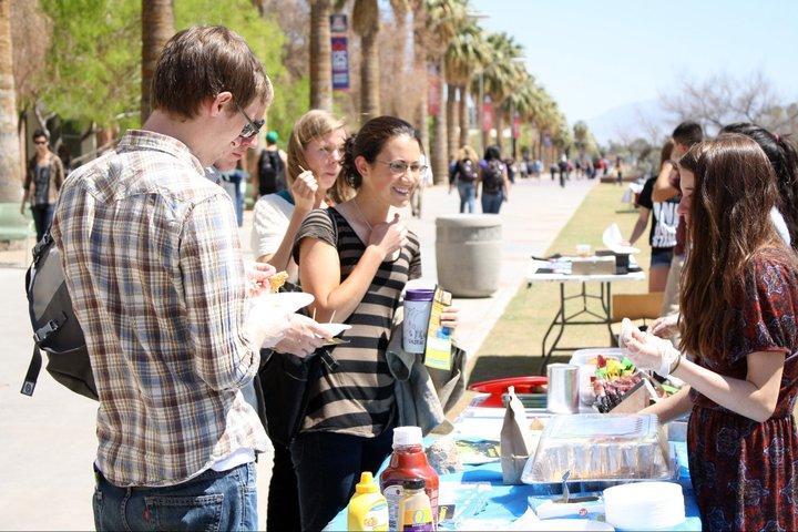 Vegan Food Sampling on college campus