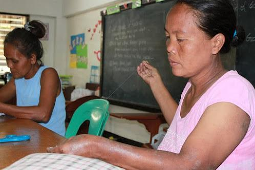 Meet Faye, Faye lives in the Philippines. She is enrolled in our sewing program.