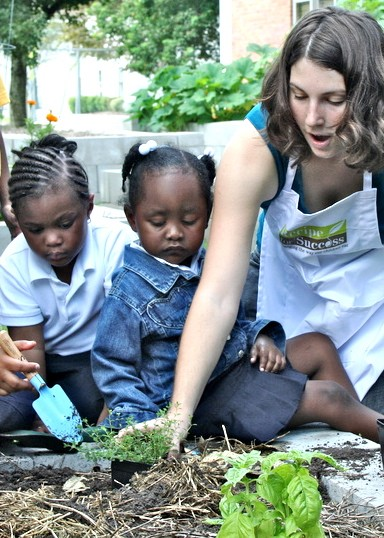 RFS Seed-to-Plate Nutrition Education (TM) starts in the Recipe Gardens with monthly classes