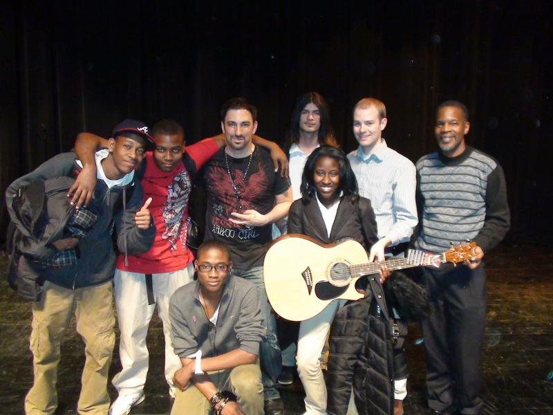 TGF Founder Damon Marks and Students