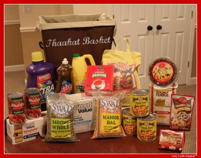 Thaakat's Gift Baskets that are sent out yearly to families in need.
