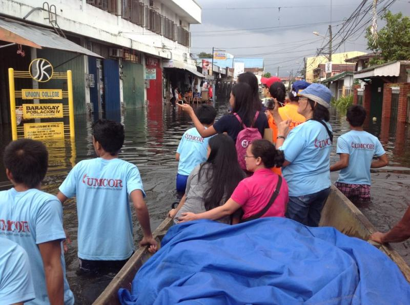 UMCOR Philippines staff and volunteers reach out to Typhoon Gener survivors.