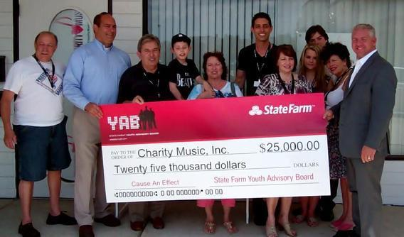 Special Thanks to State Farm for their donation of $25,000. Charity Music's submission of Give the Gift of Music was a finalist in the national competition.