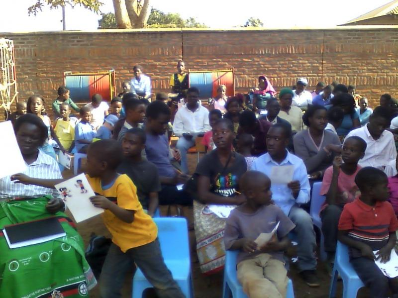 Kids in Malawi taking SFK classes