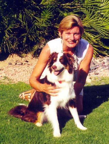 Nancy O. with her Hearing Dog, Harley