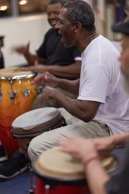 Warrior Beat--our veteran drum circle offered to our service men and women