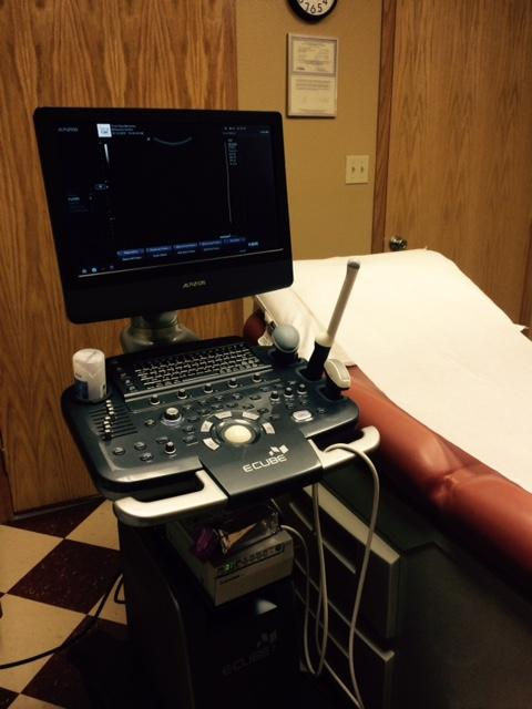 Exam room and ultrasound machine