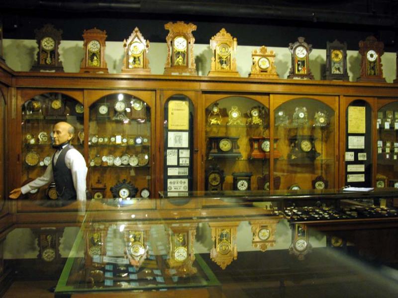 Watch & Clock Shop Exhibit