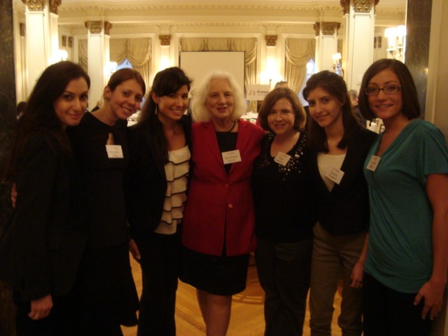 Women's eNews staff and interns at 21 Trailblazers Luncheon honoring women from history