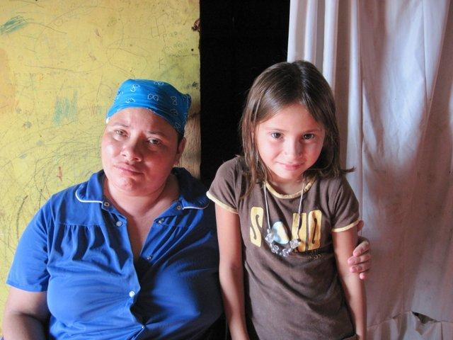 Most recent student to join our program - Erika - with her mother, who is recently blind.