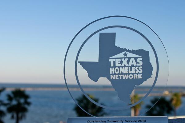 View of Corpus Christi Bay through a THN award