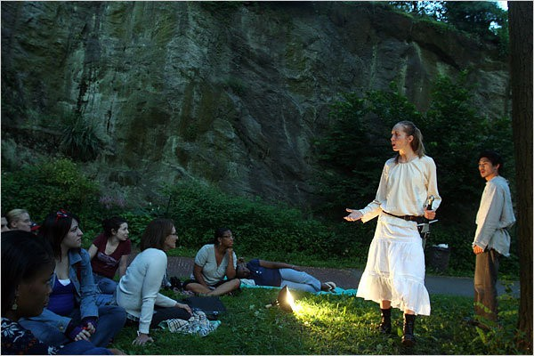 Aleksandra Yermak and James Chen in Gorilla Rep's JOAN OF ARC at Fort Tryon Park