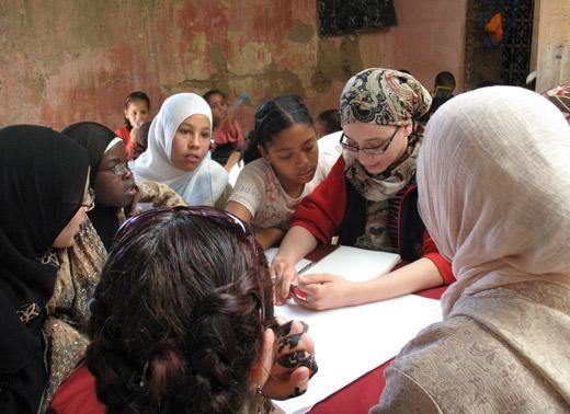 Young women studying in Morocco