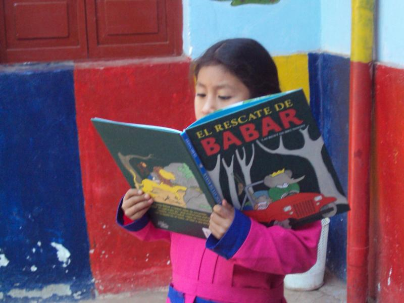 Our students learn to read earl, then help the family because they can read and write for their illiterate parents.