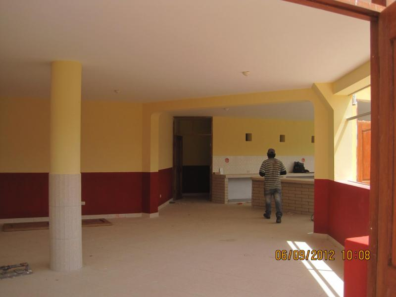 Almost completed kitchen and dining area for 150 girls