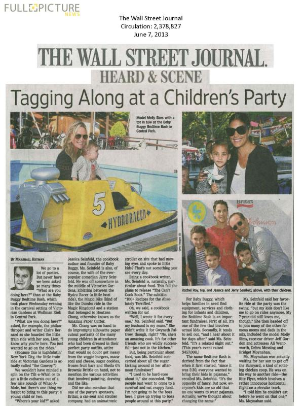 WSJ journal article on the Baby Buggy Bedtime Bash