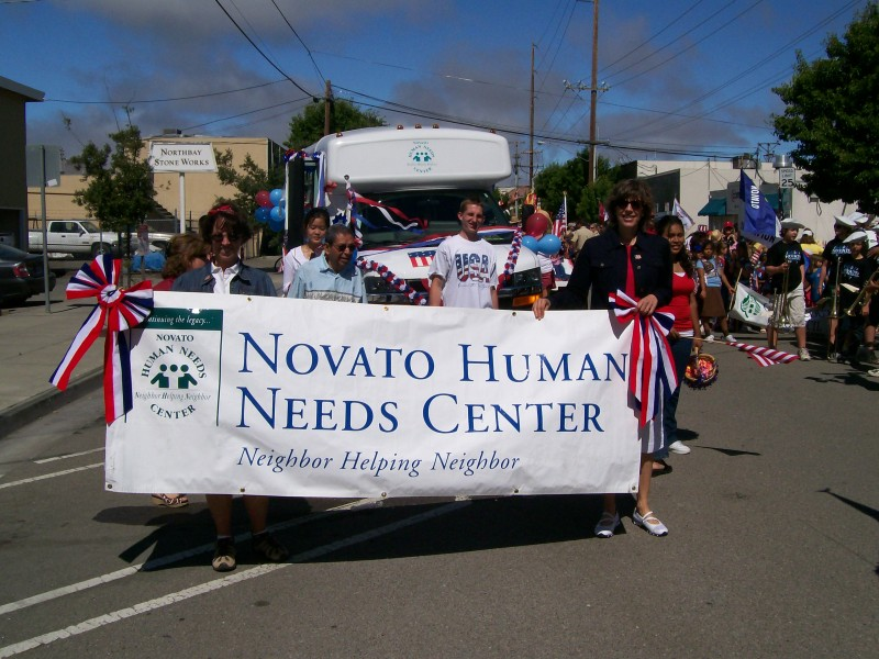 Volunteers and staff celebrate in the annual Novato 4th of July parade