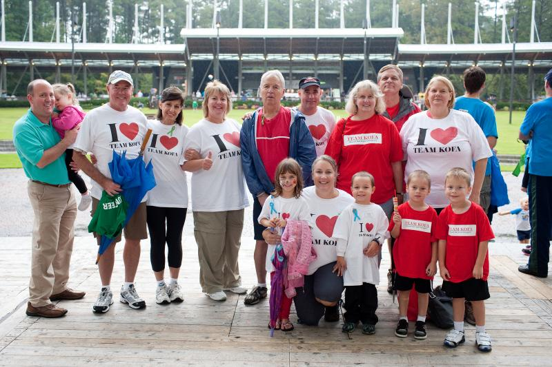 Team of walkers at a FARE Walk for Food Allergy