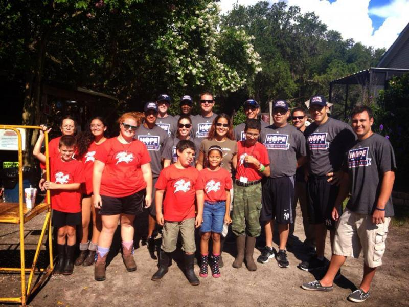 HOPE Week 2013 With the Tampa Yankees and our Warriors For Autism Summer Camp Group